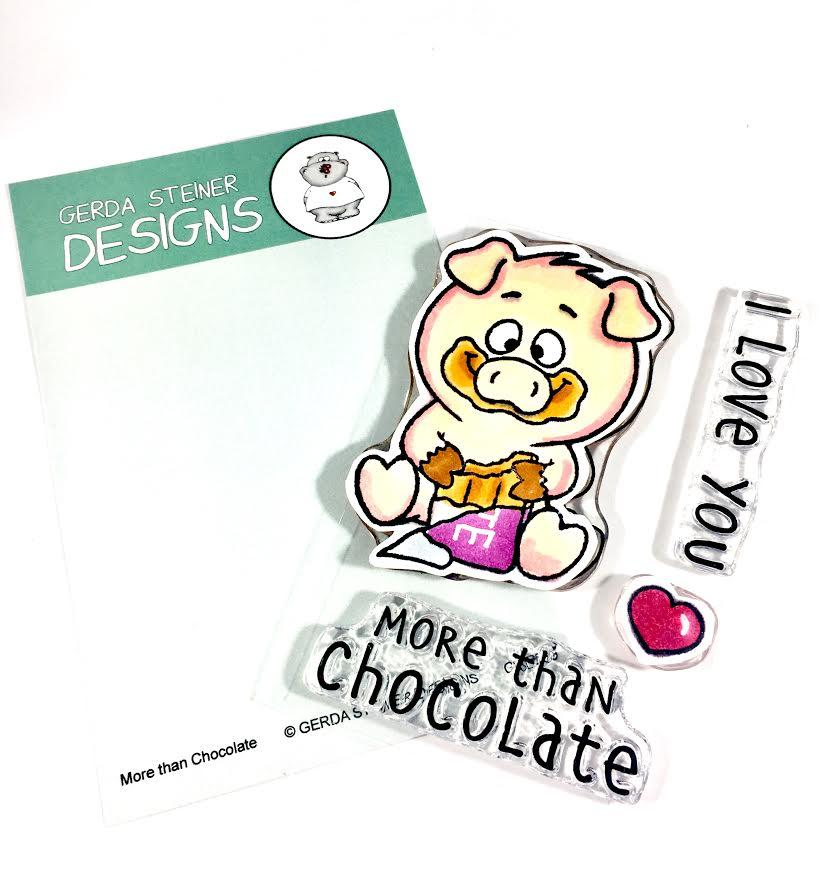 *NEW* - Gerda Steiner - More Than Chocolate 3x4 Clear Stamp Set