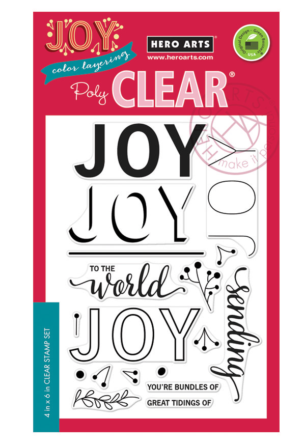 *NEW* - Hero Arts - Color Layering Joy Message