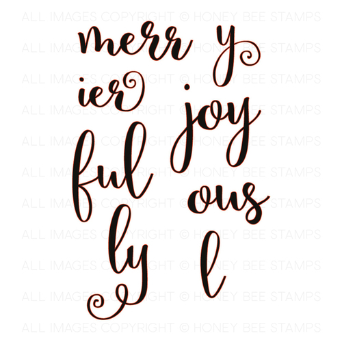 Honey Bee Stamps - Merry and Joy | Honey Cuts | Steel Dies