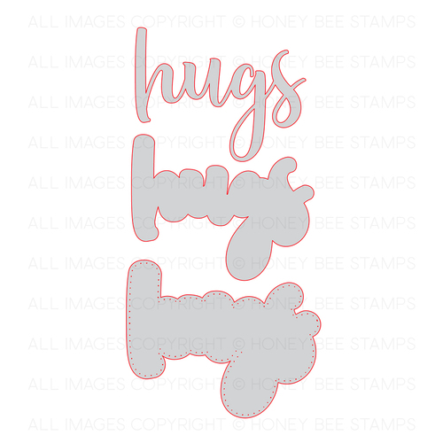Honey Bee Stamps - Hugs | Honey Cuts | Steel Craft Dies