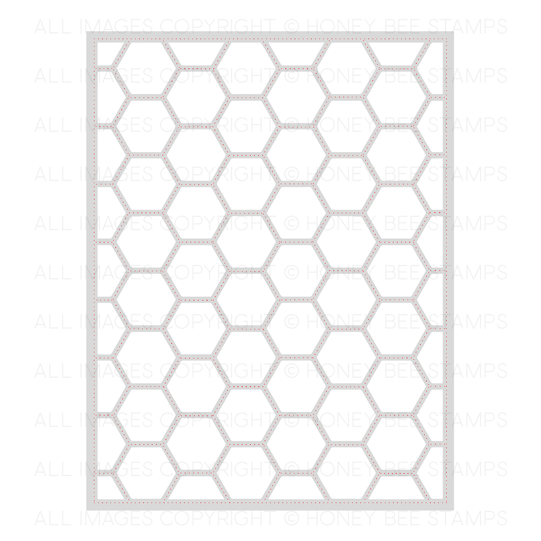 Honeybee Bee Stamps - Hexagon Cover Plate Stipple | Honey Cuts | Steel Craft Dies