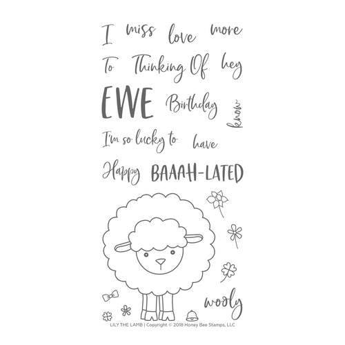 *NEW* - Honey Bee - Lily The Lamb | 4x8 Stamp Set