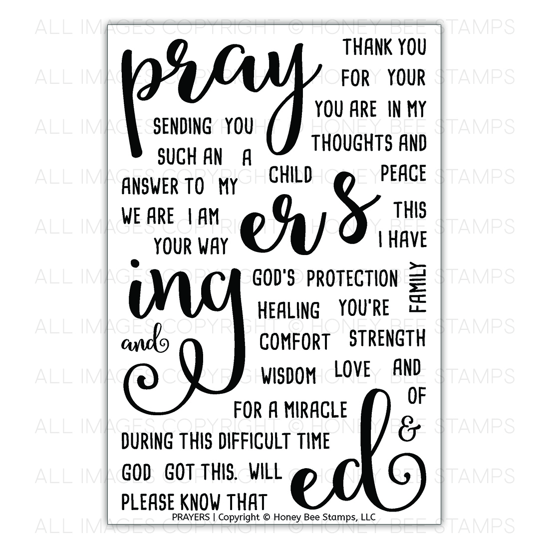 Honey Bee Stamps - Prayers | 4x6 Stamp Set