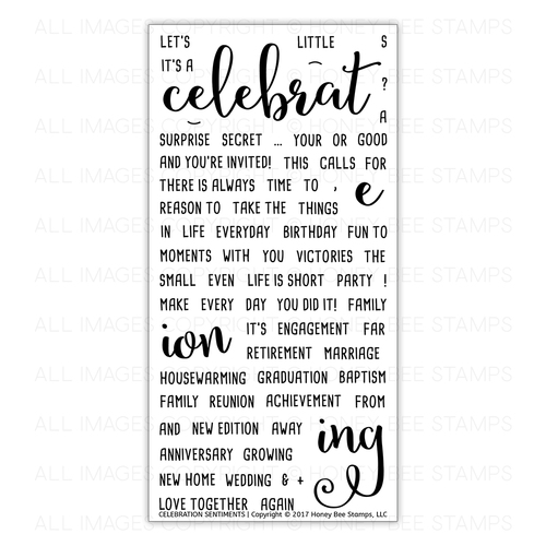 Honey Bee Stamps - Celebration Sentiments | 4x8 Stamp Set