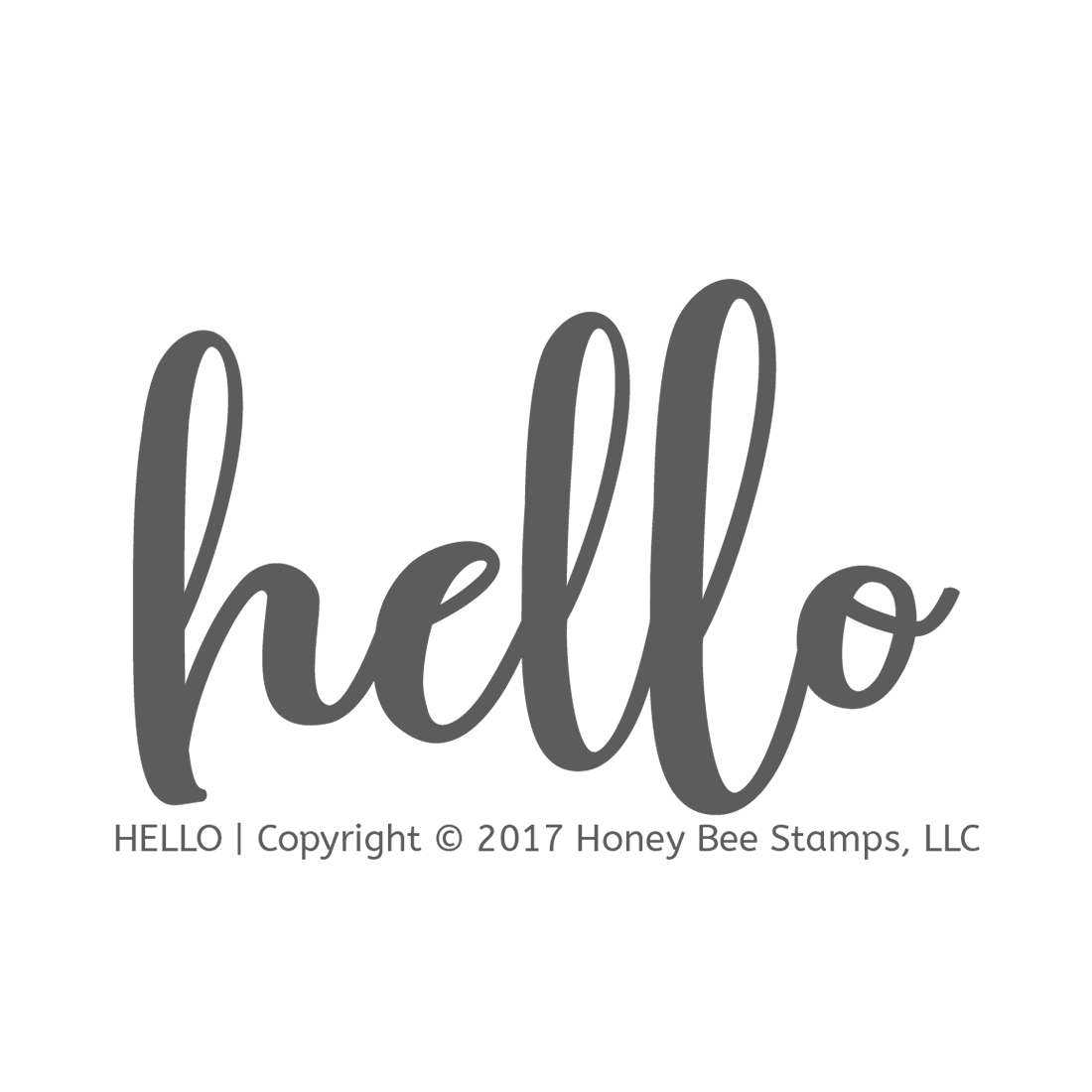 Honeybee Bee Stamps - Hello | 2x3 Stamp Set