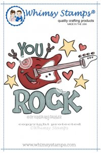 Whimsy Stamps - You Rock - Krista Heij-Barber
