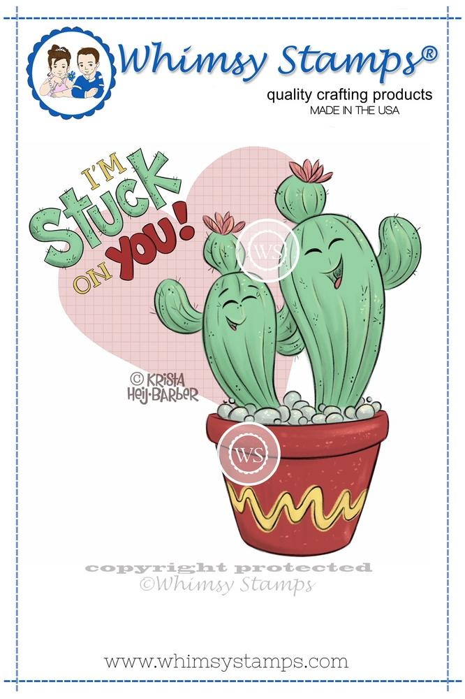 Whimsy Stamps - Stuck on You Cactus