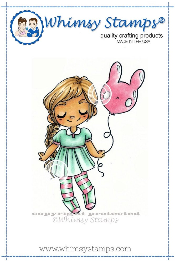 Whimsy Stamps - Bunny Balloon
