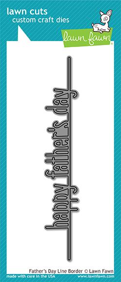 *NEW* - Lawn Fawn - father's day line border