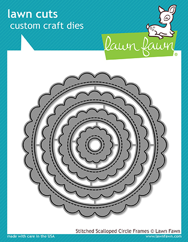 *NEW* - Lawn Fawn - stitched scalloped circle frames