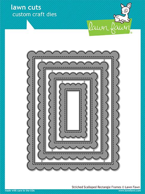 *NEW* - Lawn Fawn - stitched scalloped rectangle frames