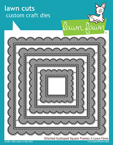 *NEW* - Lawn Fawn - stitched scalloped square frames