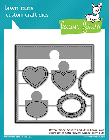 *NEW* - Lawn Fawn - reveal wheel square add-on
