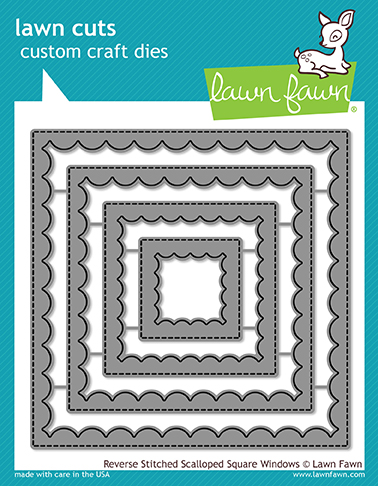 *NEW* - Lawn Fawn - reverse stitched scalloped square windows
