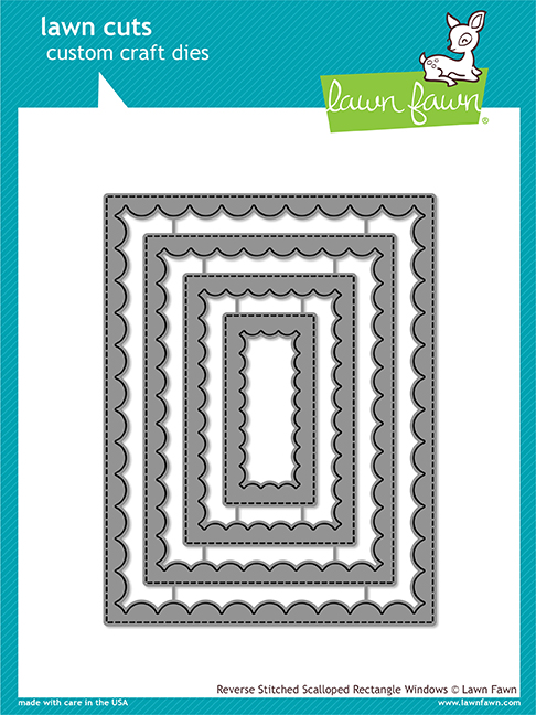 *NEW* - Lawn Fawn - reverse stitched scalloped rectangle windows