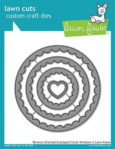 *NEW* - Lawn Fawn - reverse stitched scalloped circle windows