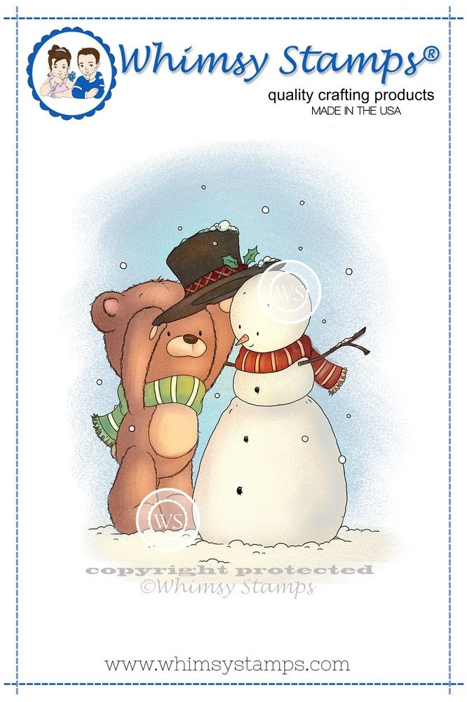 Whimsy Stamps - Build a Snowman - Lee Holland Collection