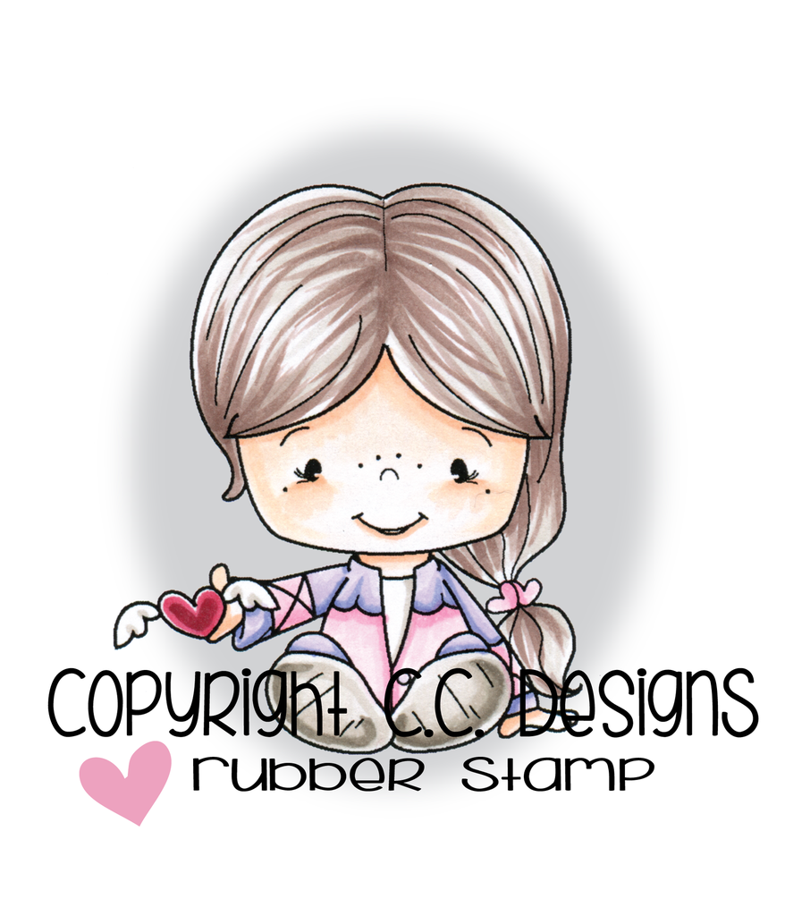 *LS*CC Designs - Little Pixie Winged Heart Rubber Stamp