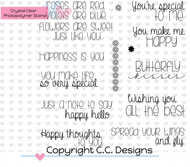 *LS*C.C. Designs Happy Sentiments Clear Stamp