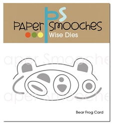 Paper Smooches - Bear Frog Card Dies