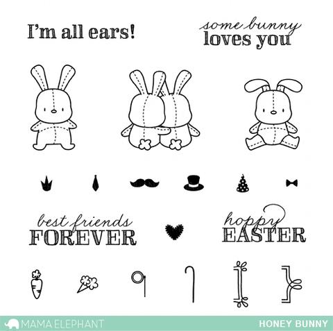 Mama Elephant- Honey Bunny Stamp Set