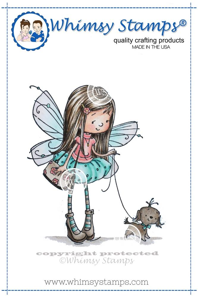Whimsy Stamps - Fairy and Puppy