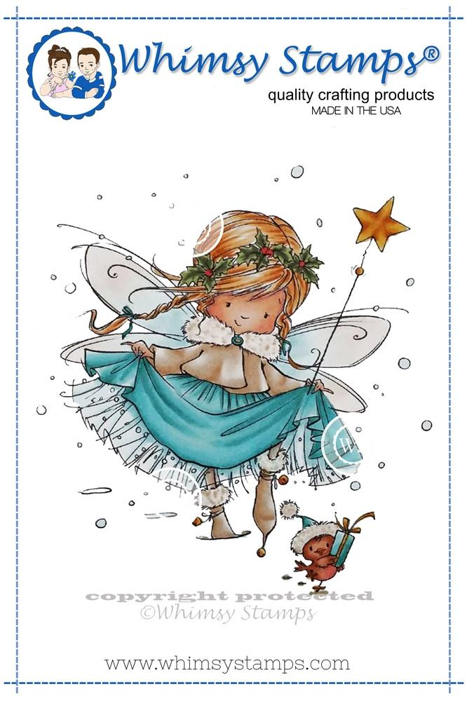 *NEW* - Whimsy Stamps - Elsa the Fairy Rubber Cling Stamp