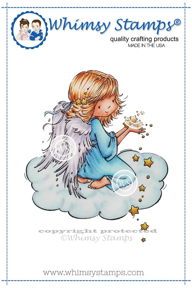 *NEW* - Whimsy Stamps - Angel Celeste Rubber Cling Stamp