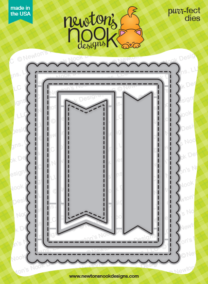 *NEW* - Newton's Nook - Frames & Flags Die Set