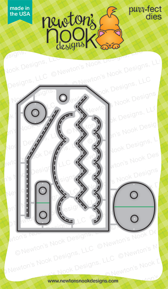 *NEW* - Newton's Nook - Fancy Edges Tag Die Set