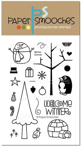 *XMAS* Paper Smooches - STAMPS - Winter Groves