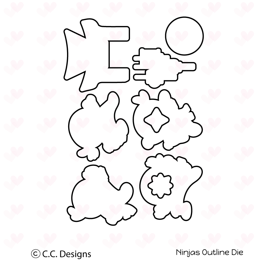 *NEW* - CC Designs - Ninjas Outline Die