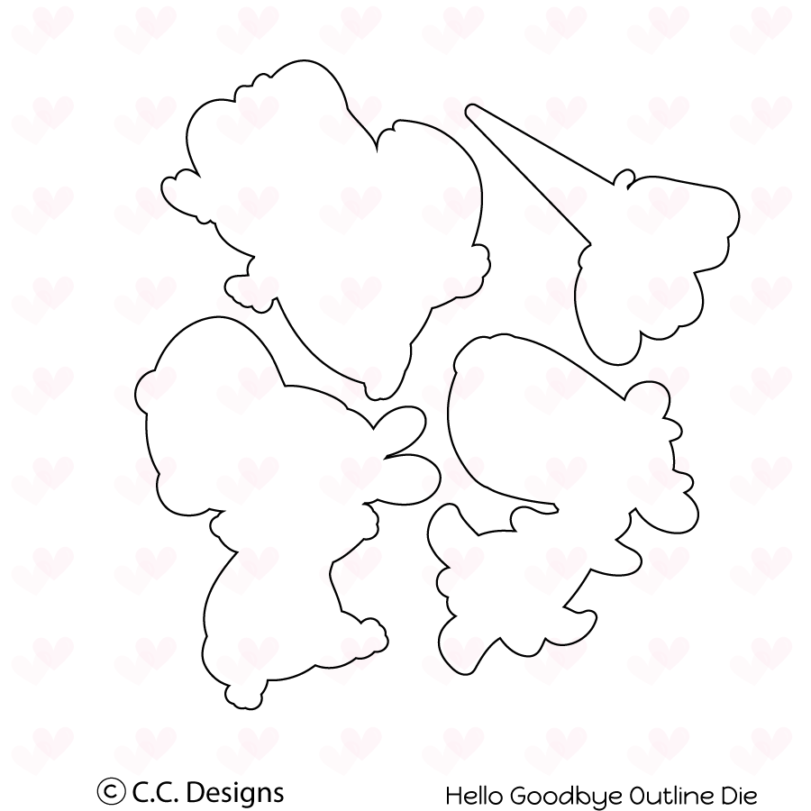CC Designs - Hello Goodbye Outline Die