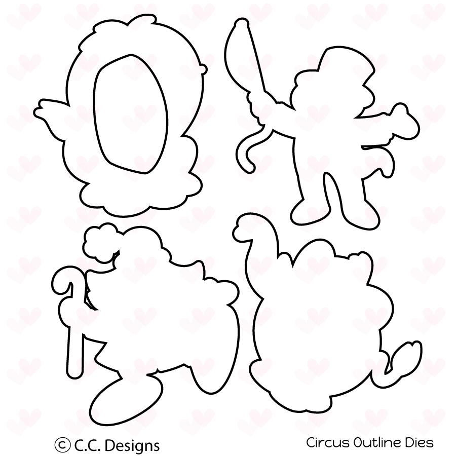 *NEW* - CC Designs - Circus Outline Die