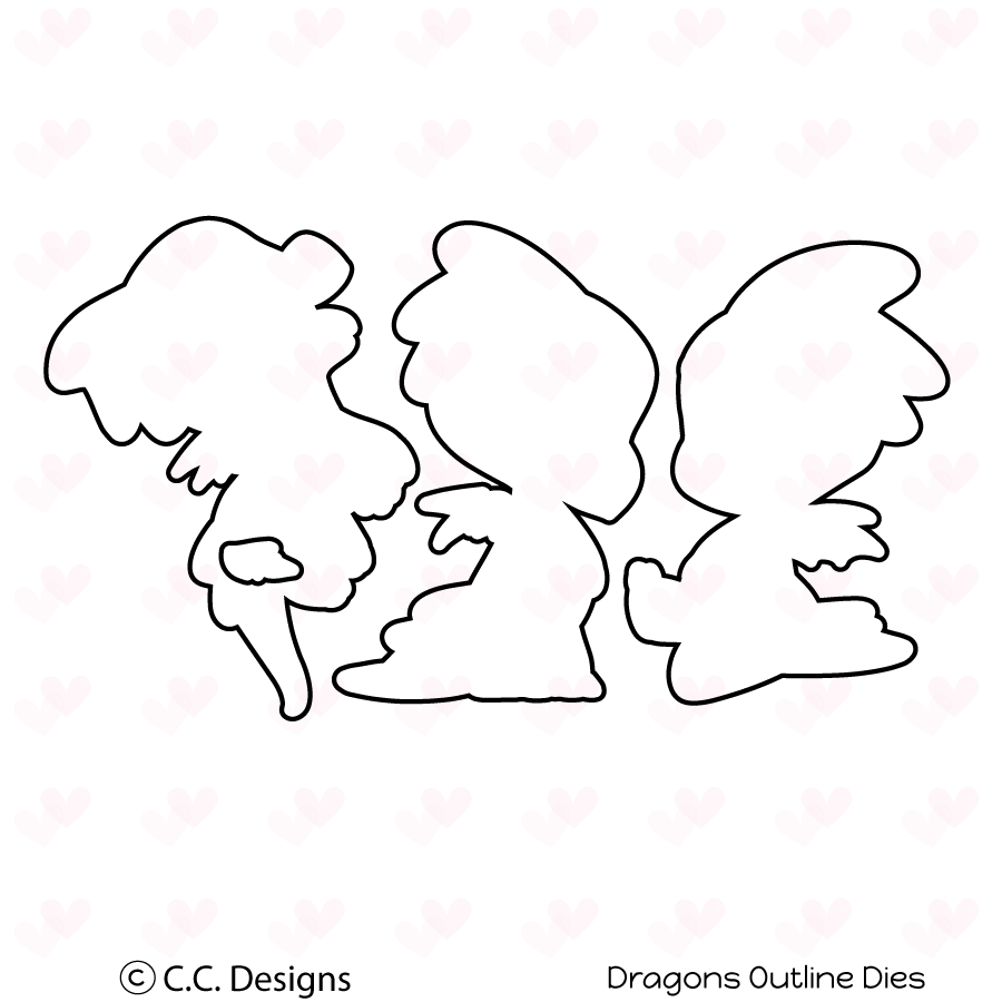 *NEW* - CC Designs - Dragons Outline Die