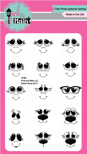*NEW* - Pink and Main - Mini Faces Set 3