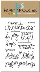 *XMAS* Paper Smooches - STAMPS - Joyful Greetings