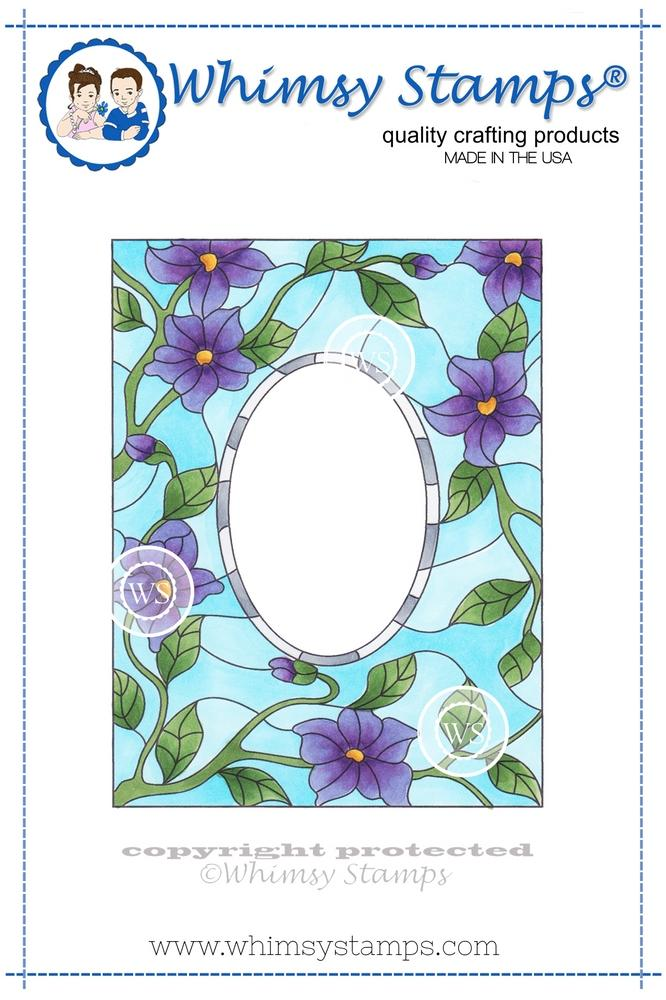*NEW* - Whimsy Stamps - Stained Glass Tiffany Window