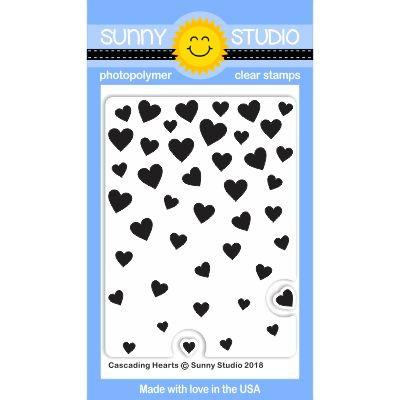 *NEW* - Sunny Studio - Cascading Hearts Stamps