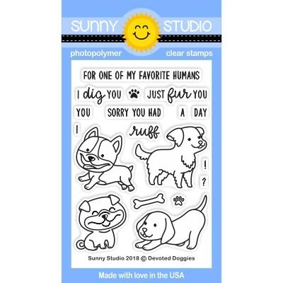 *NEW* - Sunny Studio - Devoted Doggies Stamps