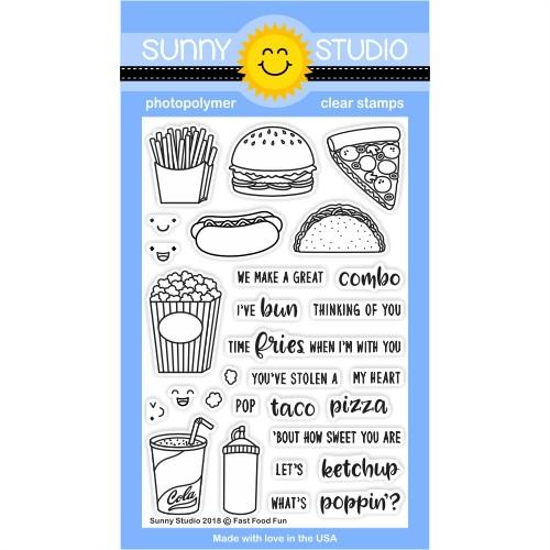 *NEW* - Sunny Studio - Fast Food Fun Stamps