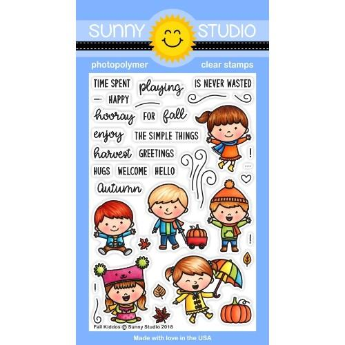 *NEW* - Sunny Studio - Fall Kiddos Stamps