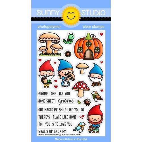 *NEW* - Sunny Studio - Home Sweet Gnome Stamps