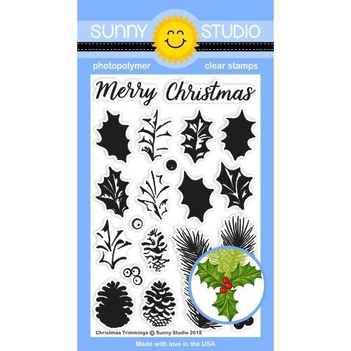*NEW* - Sunny Studio - Christmas Trimmings Stamps