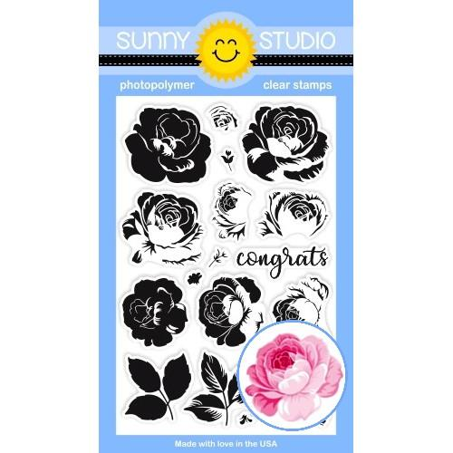 *NEW* - Sunny Studio - Everything's Rosy Stamps