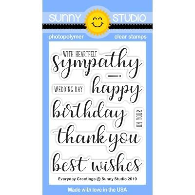 *NEW* - Sunny Studio - Everyday Greetings Stamps