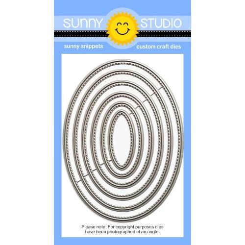 *NEW* - Sunny Studio - Stitched Oval Dies