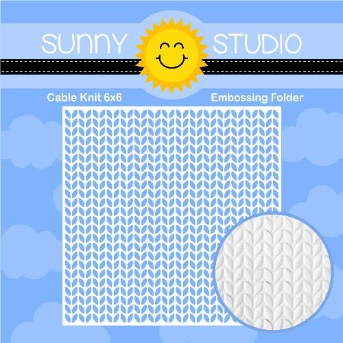 *NEW* - Sunny Studio - Cable Knit Embossing