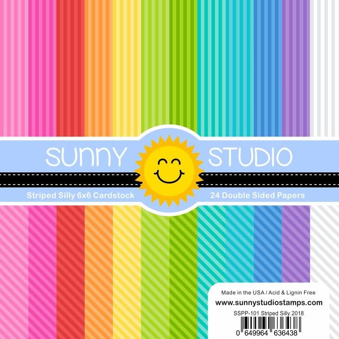 *NEW* - Sunny Studio - Striped Silly Paper