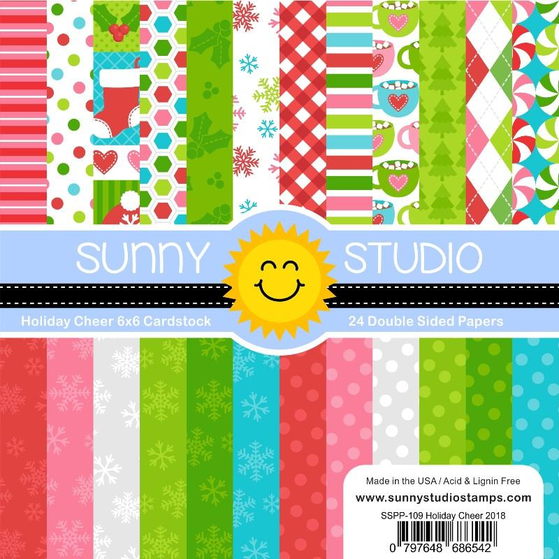 *NEW* - Sunny Studio - Holiday Cheer 6x6 Paper